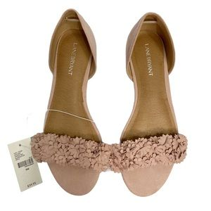 NWT Lane Bryant pink mauve lifted sandals 9 wide